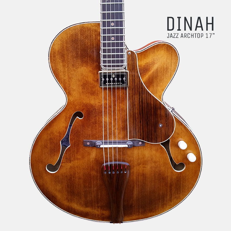 Dinah Handcrafted archtop guitar by sabolovic guitars