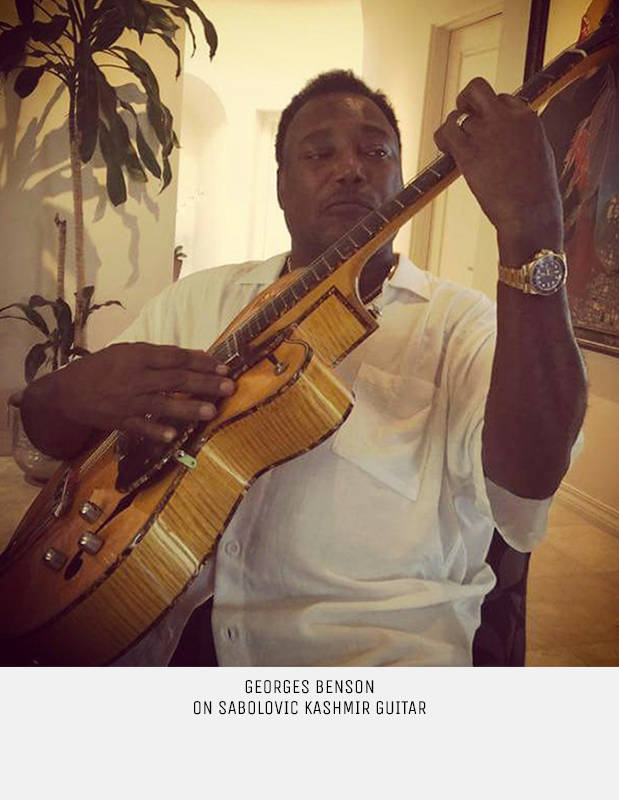 Great Georges Benson playing on Sabolovic Kashmir deluxe guitar