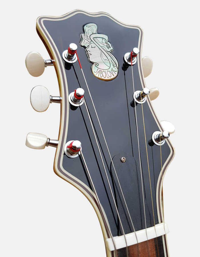 sabolovic luthier - headstock jazz guitar