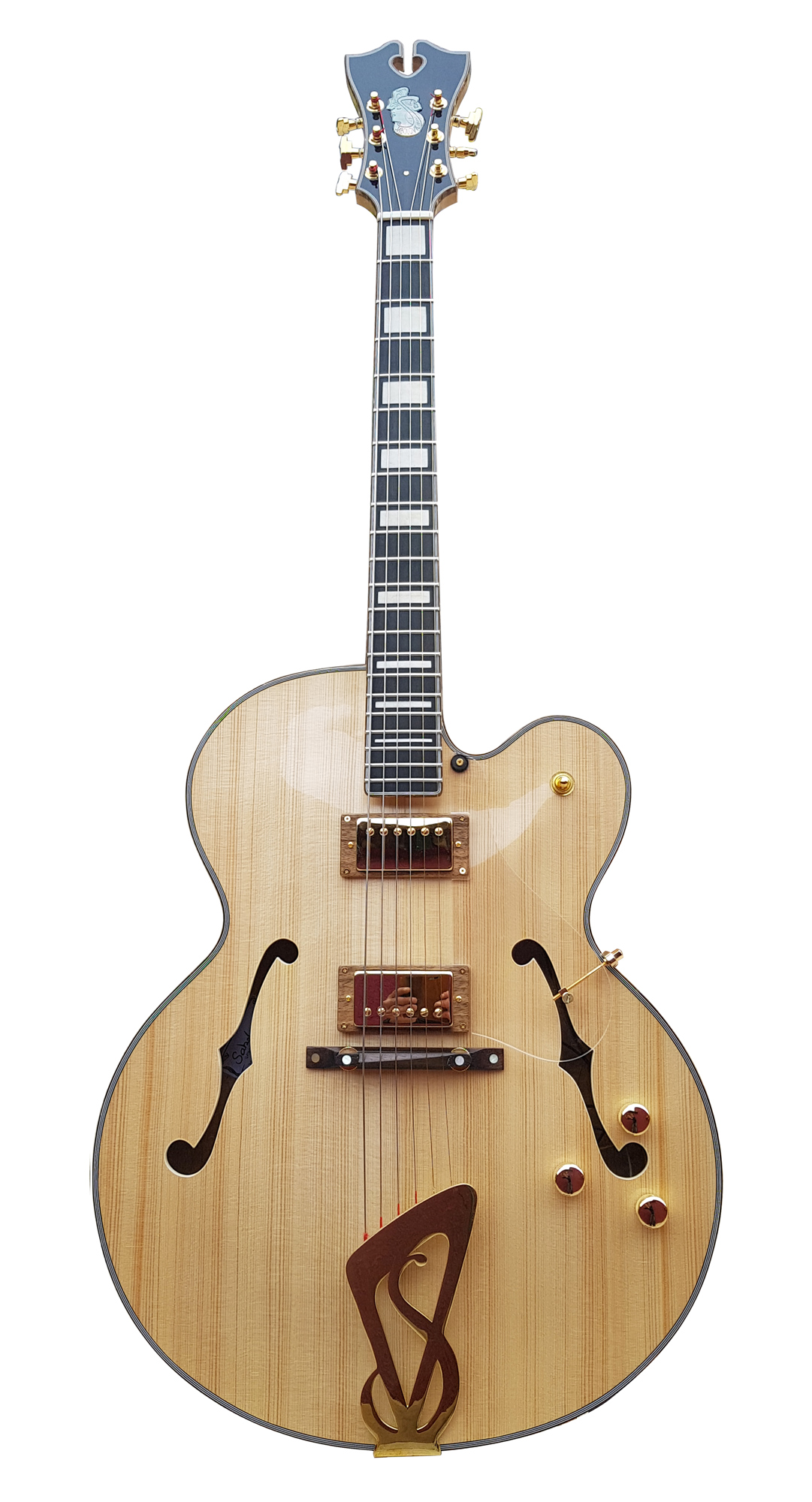 Ella, the jazzbox guitar model from Sabolovic Lutherie france
